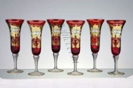Кристални чаши за шампанско 6 бр.