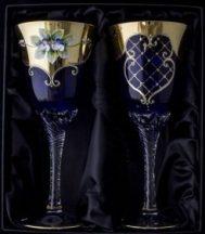 Декоративни кристални чаши за  вино 2 бр.