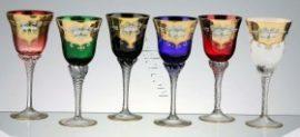 Кристални декоративни чаши за вино 6 бр.