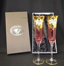 Кристални чаши за шампанско 2 бр.