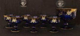 Кристален комплект от 7 чаши