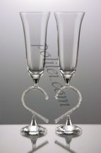 Decorative crystal glasses
