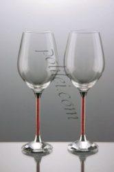 Декоративни кристални чаши за вино