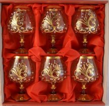 Crystal brandy glasses