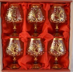 Кристални чаши за бренди