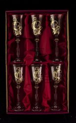 Crystal liquor glasses