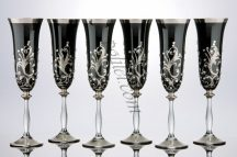 Crystal champagne glasses