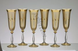 Crystal glided champagne glasses